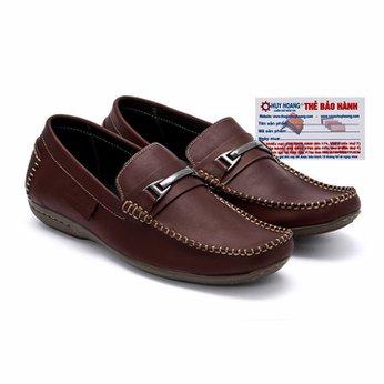 Giày mọi nam Huy Hoàng da bò màu nâu đỏ HG7115