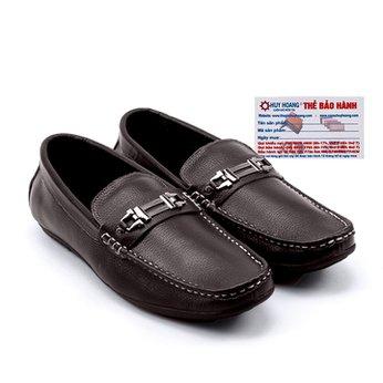 Giày mọi nam Huy Hoàng da bò màu nâu HG7113