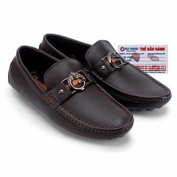 Giày mọi nam Huy Hoàng đế âm đính G màu nâu đất HG7771