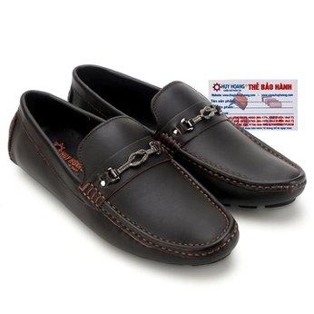 Giày mọi nam Huy Hoàng đế âm đính móc màu nâu đất HG7772