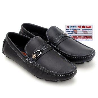 Giày mọi nam Huy Hoàng đế âm màu đen HG7769