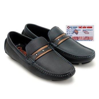Giày mọi nam Huy Hoàng đế âm màu xanh đen HG7773
