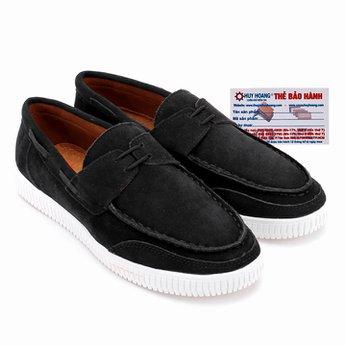 Giày mọi thể thao Huy Hoàng cột dây màu đen HG7740