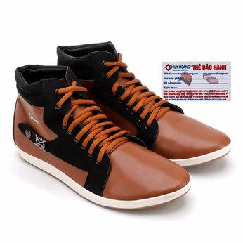 Giày nam Huy Hoàng cổ cao màu da phối đen HG7753