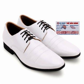 Giày nam Huy Hoàng cột dây đen màu trắng HG7751