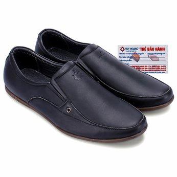 Giày nam Huy Hoàng da bò màu đen HG7123