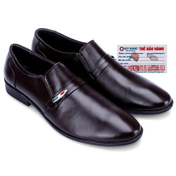 Giày nam Huy Hoàng da bò màu nâu HG7124