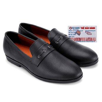 Giày nam Huy Hoàng đan 1 dây màu đen HG7737