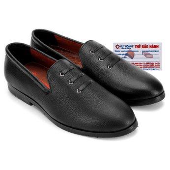 Giày nam Huy Hoàng đan 3 dây màu đen HG7736