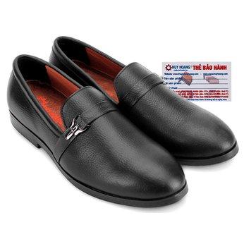 Giày nam Huy Hoàng đính móc khóa màu đen HG7734