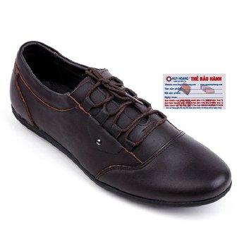 Giày nam Huy Hoàng thời trang cột dây màu nâu HG7724