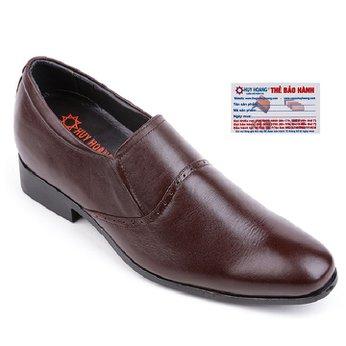 Giày nam tăng chiều cao Huy Hoàng màu nâu HG7717
