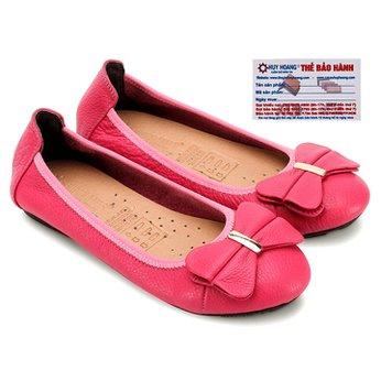 Giày nữ búp bê Huy Hoàng da bò màu hồng HG7912