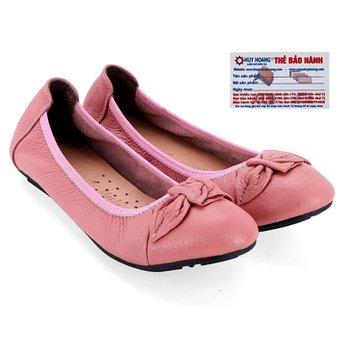 Giày nữ búp bê Huy Hoàng da bò màu hồng phấn HG7919