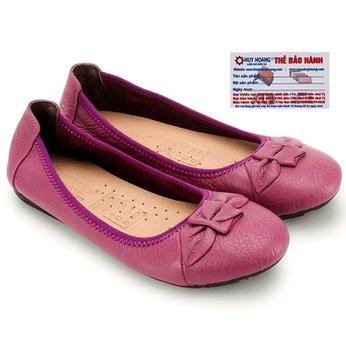 Giày nữ búp bê Huy Hoàng da bò màu tím HG7911