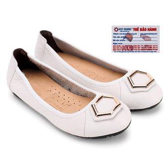 Giày nữ búp bê Huy Hoàng da bò màu trắng HG7913
