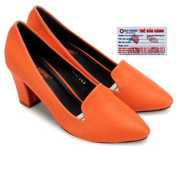Giày nữ Huy Hoàng cao cấp kiểu vuông màu cam HG7902