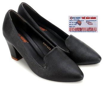 Giày nữ Huy Hoàng cao cấp kiểu vuông màu đen HG7901