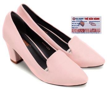 Giày nữ Huy Hoàng cao cấp kiểu vuông màu hồng phấn HG7903