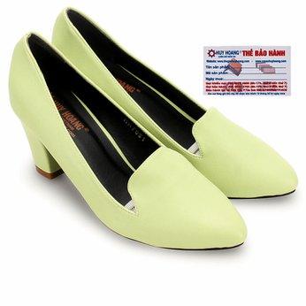 Giày nữ Huy Hoàng cao cấp kiểu vuông màu xanh lá HG7904