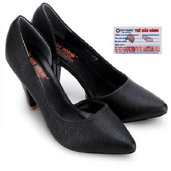 Giày nữ Huy Hoàng cao cấp xẻ hông màu đen HG7086