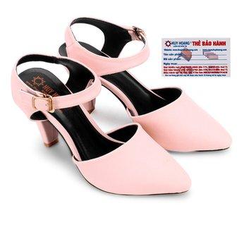 Giày nữ Huy Hoàng cột dây hở gót màu hồng HG7095