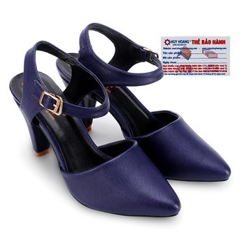 Giày nữ Huy Hoàng cột dây hở gót màu xanh đậm HG7097