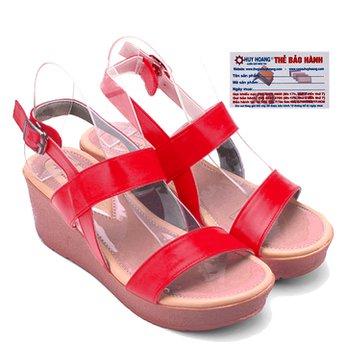 Giày nữ Huy Hoàng đế xuồng màu đỏ HG7043
