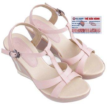 Giày nữ Huy Hoàng đế xuồng màu kem hồng HG7032
