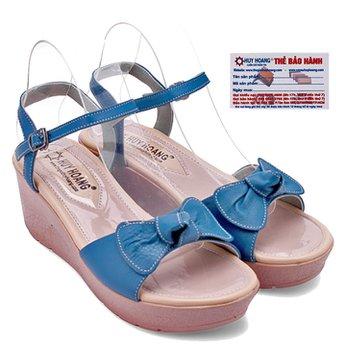 Giày nữ Huy Hoàng đế xuồng màu xanh HG7041