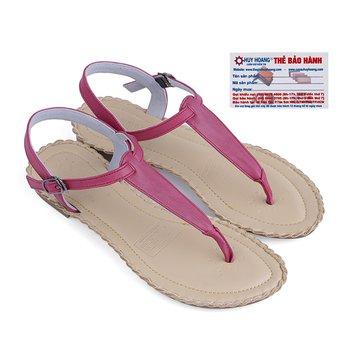 Giày sandal Huy Hoàng đế thấp màu tím -HG7026