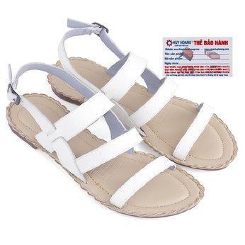 Giày sandal Huy Hoàng đế thấp màu trắng HG7028