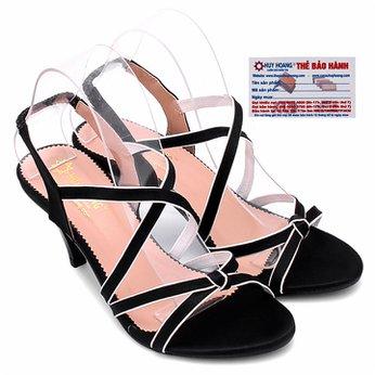 Giày sandal nữ Huy Hoàng màu đen HG7057