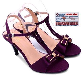 Giày sandal nữ huy hoàng màu tím HG7054
