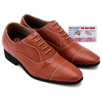 Giày tăng chiều cao Huy Hoàng màu da bò HG7182