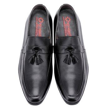 Giày tăng chiều cao Huy Hoàng màu đen có tua - HG7176