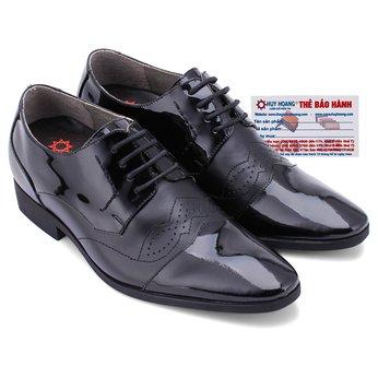 Giày tăng chiều cao Huy Hoàng màu đen HG7180