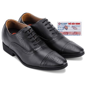 Giày tăng chiều cao Huy Hoàng màu đen HG7183