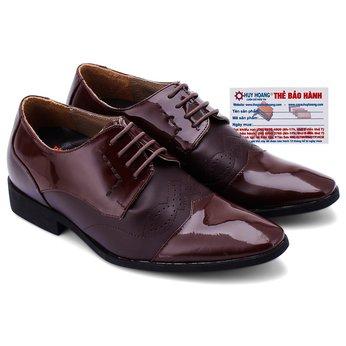 Giày tăng chiều cao Huy Hoàng màu nâu đất HG7181