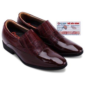 Giày tăng chiều cao Huy Hoàng màu nâu đất HG7185