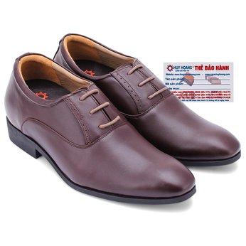Giày tăng chiều cao Huy Hoàng màu nâu HG7178