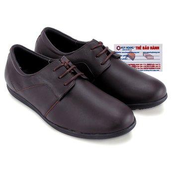 Giày tây Huy Hoàng cột dây mũi tròn màu nâu đậm HG7712