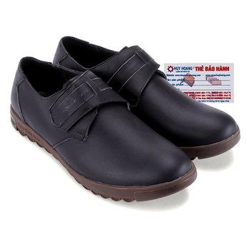 Giày tây Huy Hoàng quai ngang mũi tròn màu đen HG7713