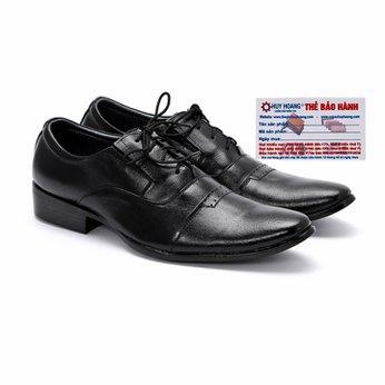 Giày tây nam Huy Hoàng da bò màu đen-HG7103