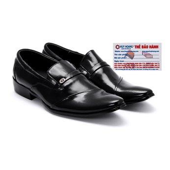 Giày tây nam Huy Hoàng da bò màu đen HG7106