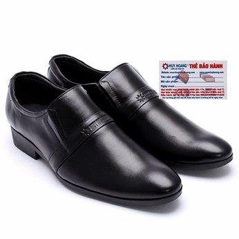Giày tây nam Huy Hoàng da bò màu đen HG7107