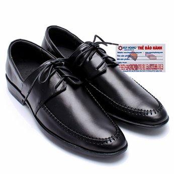 Giày tây nam Huy Hoàng da bò màu đen HG7109
