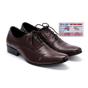 Giày tây nam Huy Hoàng da bò màu nâu HG7108