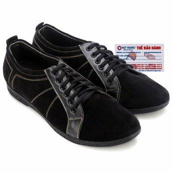 Giày thể thao Huy Hoàng cột dây màu màu đen HG7748