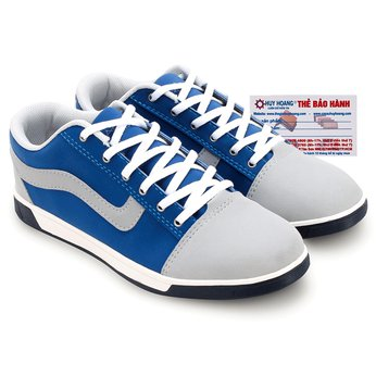 Giày thể thao nam Huy Hoàng cột dây kem phối xanh HG7606